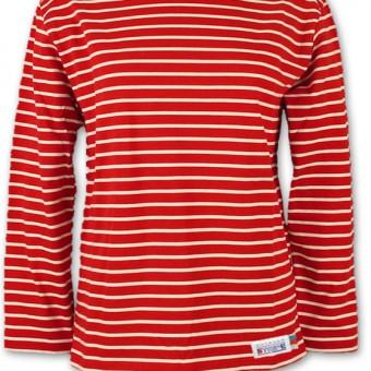 Classic Breton Shirt A01 bordeaux naturel