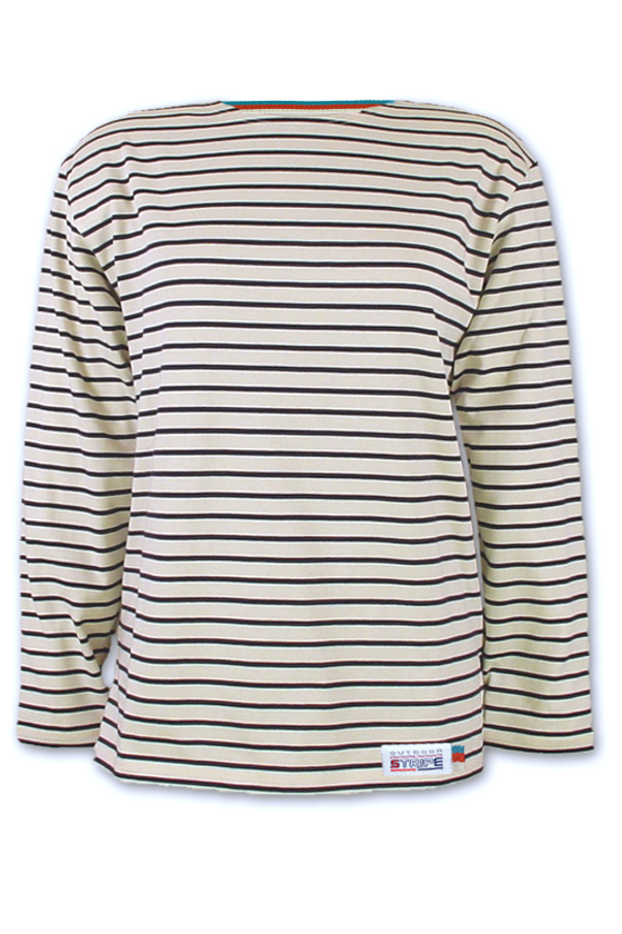 Classic Breton Shirt A01 naturel navy