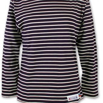 Classic Breton Shirt A01 navy naturel