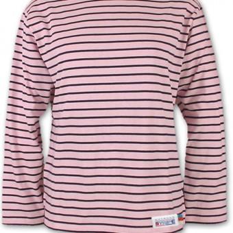 Classic Breton Shirt A01 pink navy