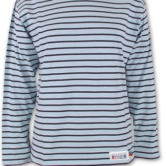 Classic Breton Shirt A01 skyblue navy