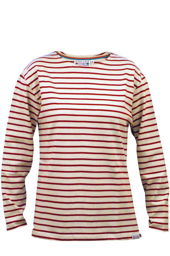 Classic-Bretons-shirt-Naturel-Bordeaux
