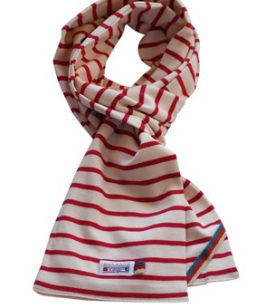 breton scarf naturel bordeaux