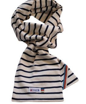 breton scarf naturel navy