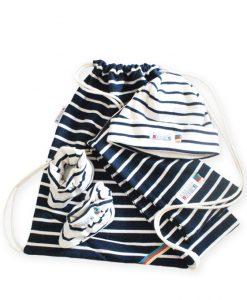 baby giftbag naturel navy