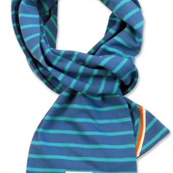 breton scarf cobalt aqua