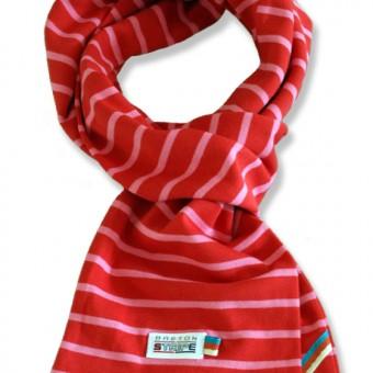 breton scarf fuxia red
