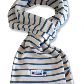 breton scarf naturel jeans