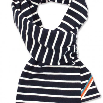 scarf navy white