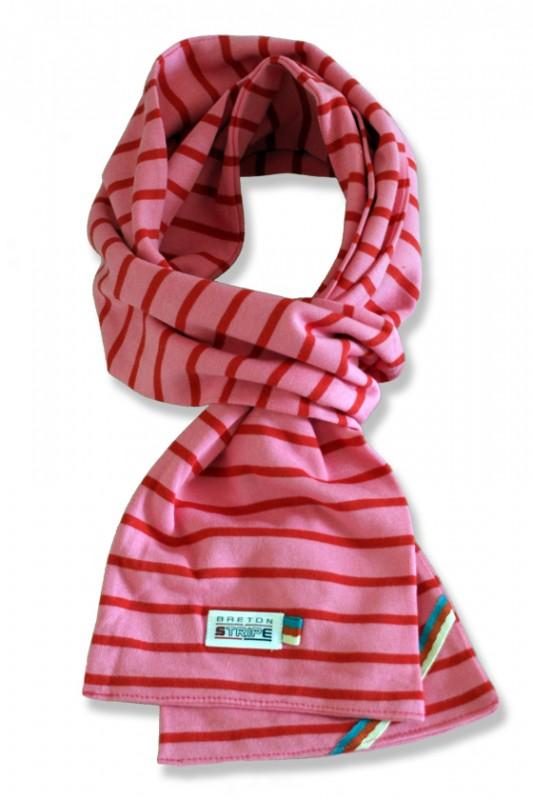 breton scarf pink fuxia