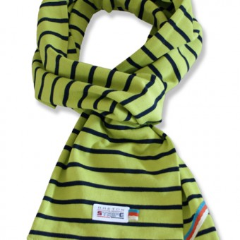 sjaal kinder K02 lime green navy