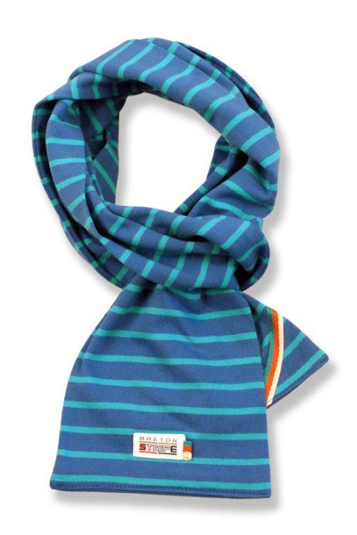 sjaal kinder K02 cobalt turquoise