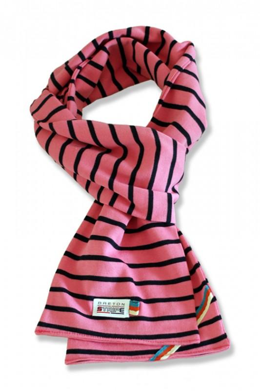 sjaal kinder K02 fuxia navy