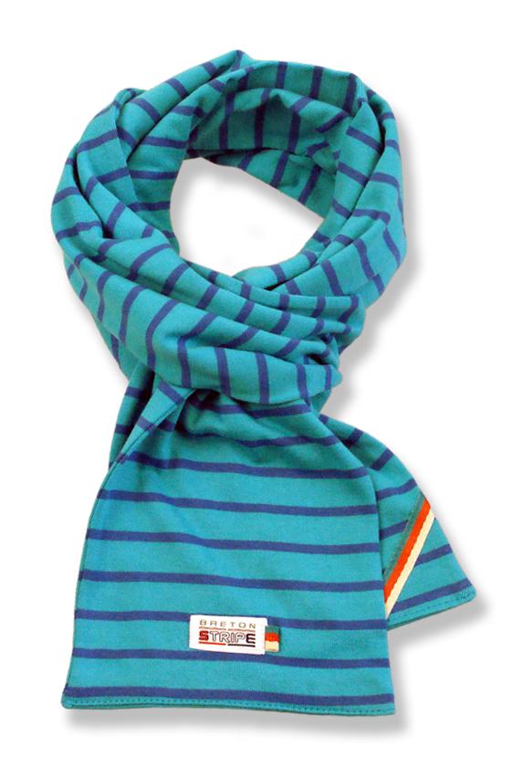 kids-scarf K02 turquoise cobalt