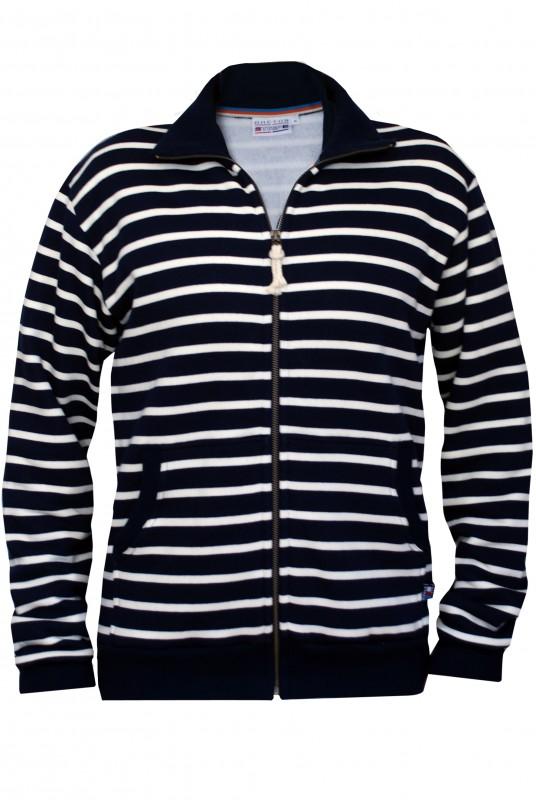 breton men hoodies navy-naturel
