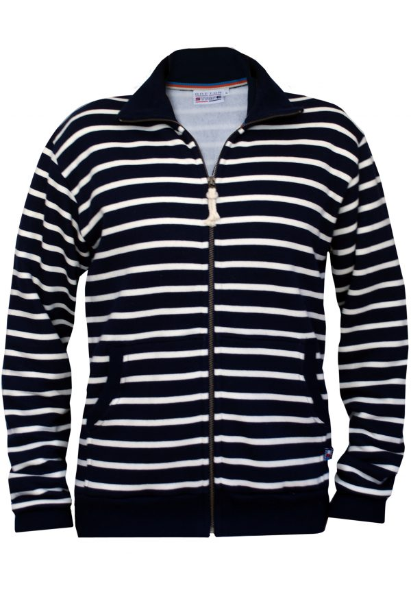 breton men hoodies navy-naturel